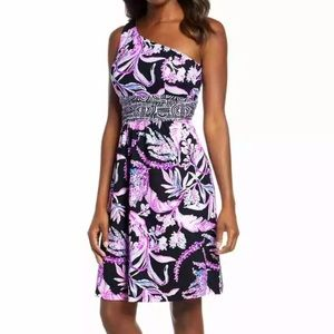 Lilly Pulitzer Malia Dress Purple Black